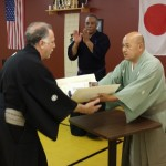 Shihan promotion by Nidai Soke
