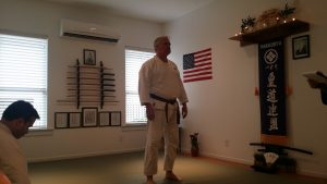 Mark Green Ready to begin his demonstration of Shodan Waza